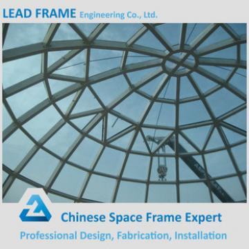 Red Color Steel Structure Glass Dome Roof Skylight With CE&CCC