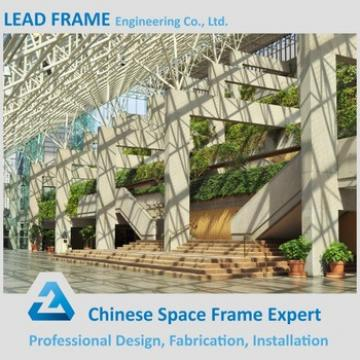 Column Free Steel Space Frame Glass Atrium Roof