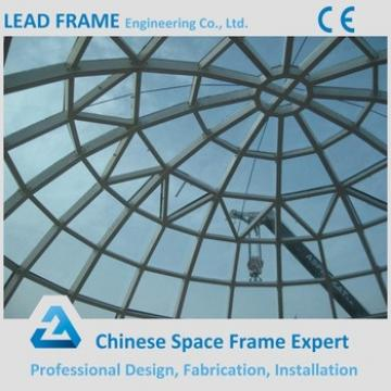 Q345B Steel Material Prefab Glass Roof Dome For Sale
