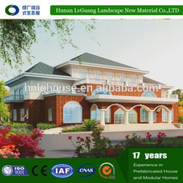 Decorated 2-storey elegant Prefabricated House Pvc