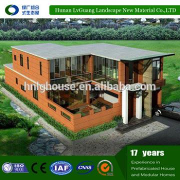 New design wood house thailand villa prefab house