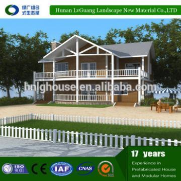 Cheap steel framed garden prefab house for Zimbabwe market