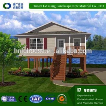 Cheap wood prefabricated brick houses and villas