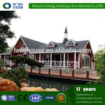 log cabins prefab house,luxury prefabricated villa design , green house