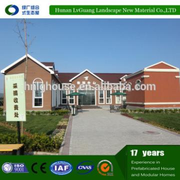 China prefab luxury villa with bungalow homes