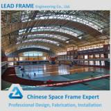 Arch steel space frame structure stadium for sports hall