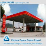waterproof steel structure space frame for gas station canopy