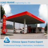 Galvanized steel gas station building