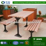 Outdoor solid wpc wood picnic table and benches